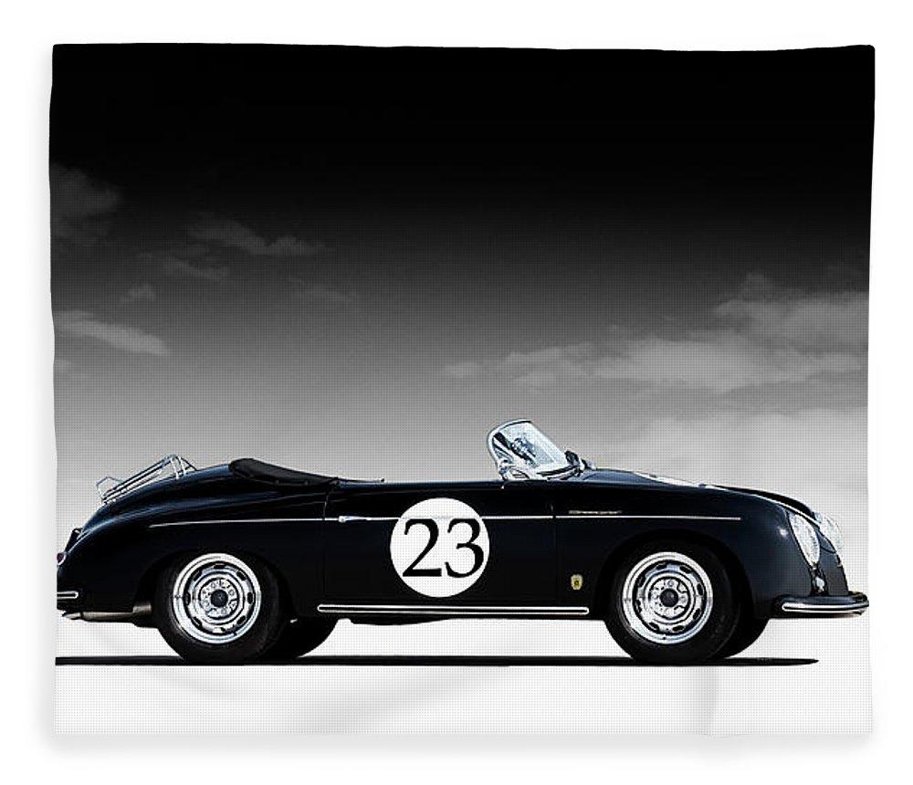 Black Fleece Blanket featuring the digital art Black Speedster by Douglas Pittman