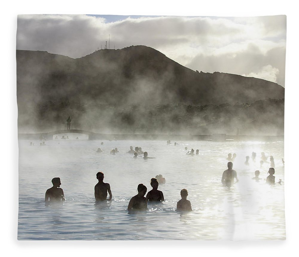Spa Fleece Blanket featuring the photograph Blue Lagoon Geothermal Spa by Thomas Janisch