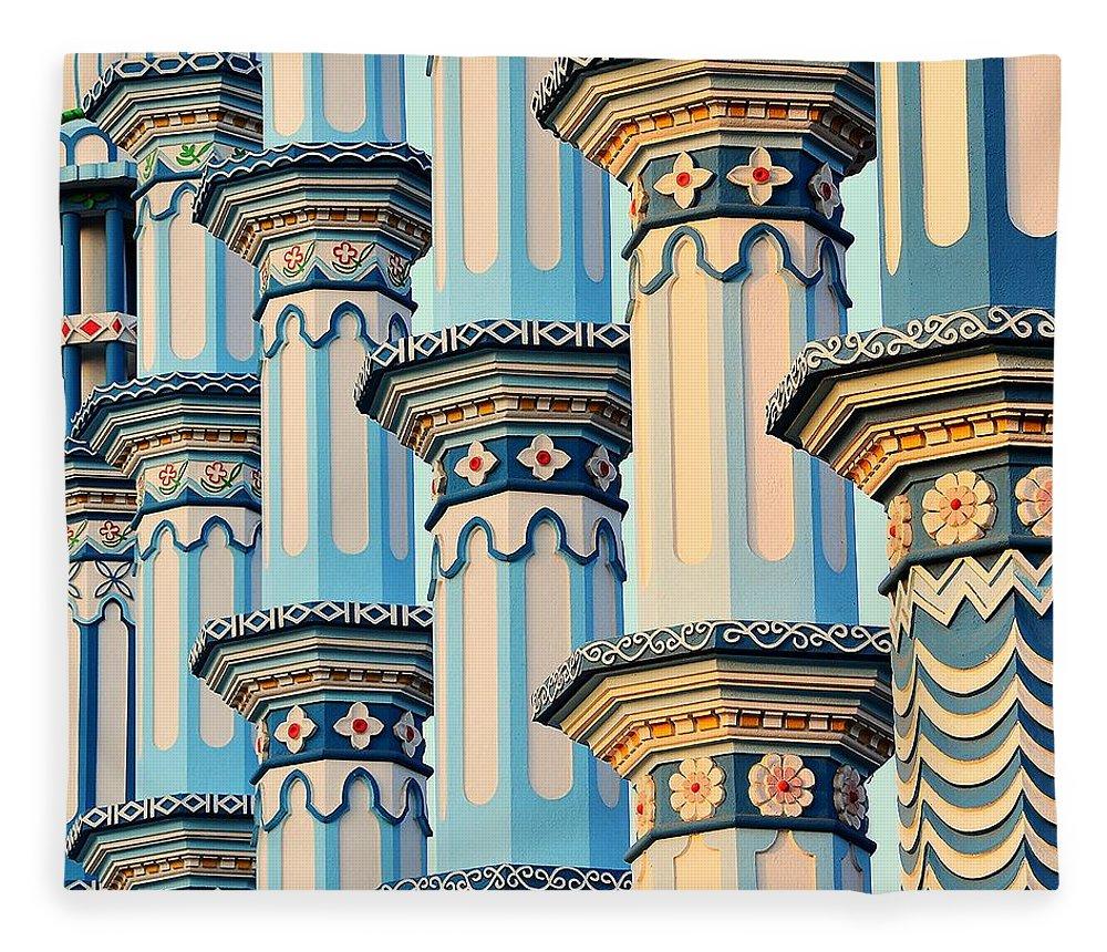 Art Fleece Blanket featuring the photograph Blue Mosque by Baxsyl