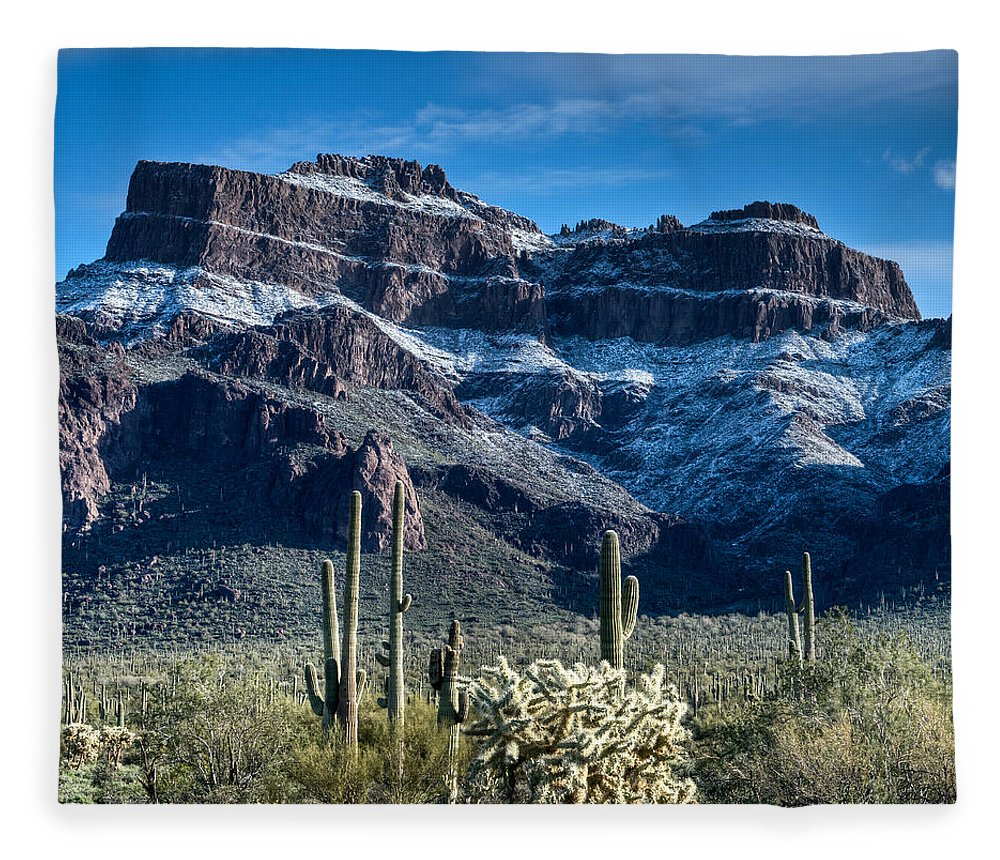 Tranquility Fleece Blanket featuring the photograph Blue Sky After The Snow by Merilee Phillips