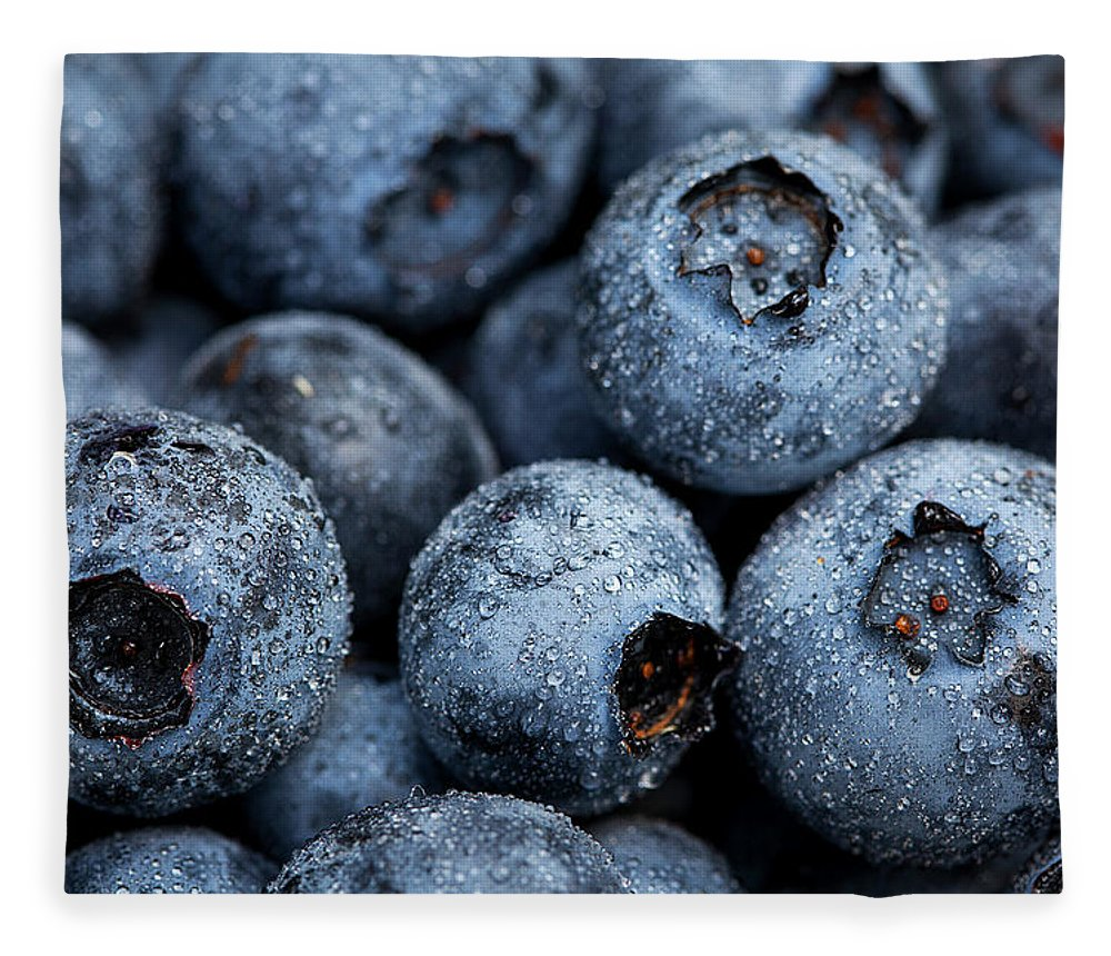 Surrey Fleece Blanket featuring the photograph Blueberries Fruits by Kevin Van Der Leek Photography