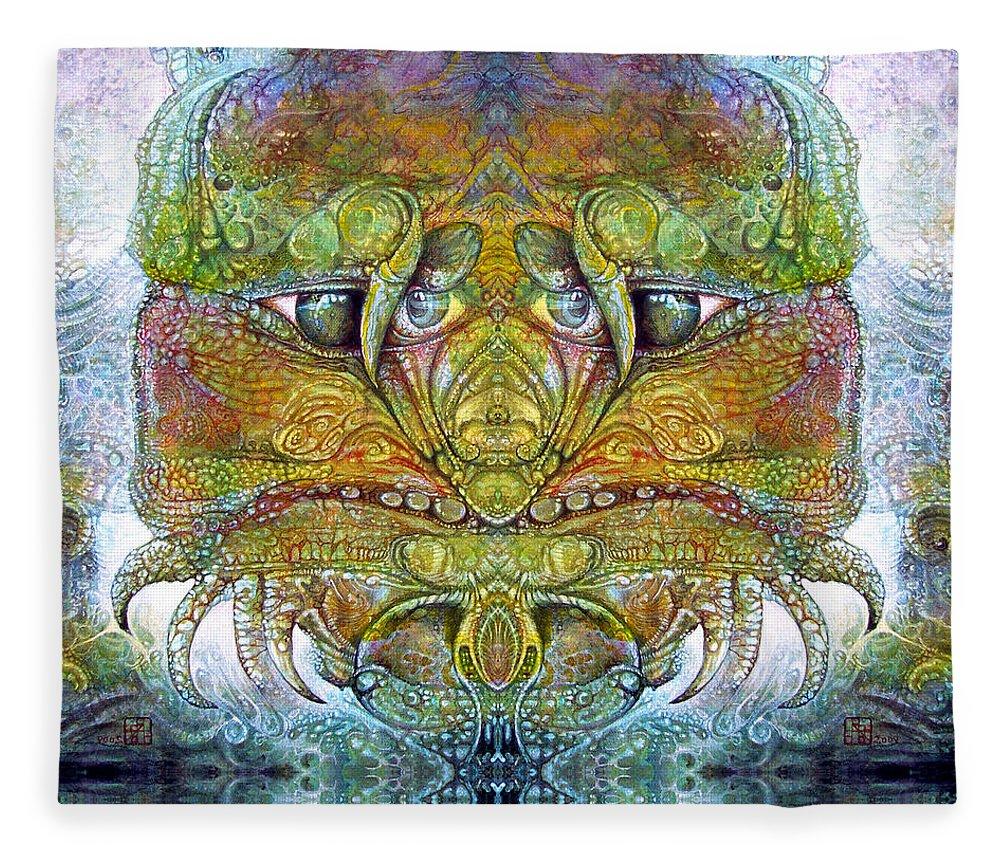 \bogomil Variations\ \otto Rapp\ \ Michael F Wolik\ Fleece Blanket featuring the digital art Bogomil Variation 11 by Otto Rapp