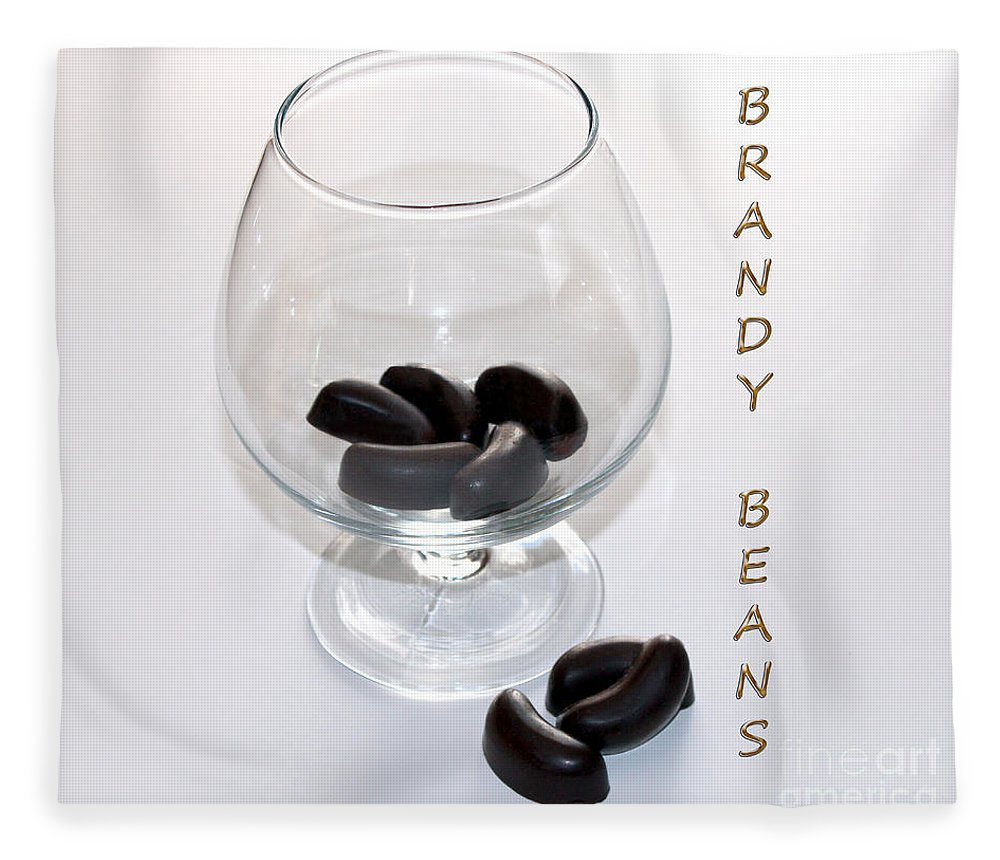 Brandy Fleece Blanket featuring the photograph Brandy Beans - Liqueur - Chocolate by Barbara Griffin