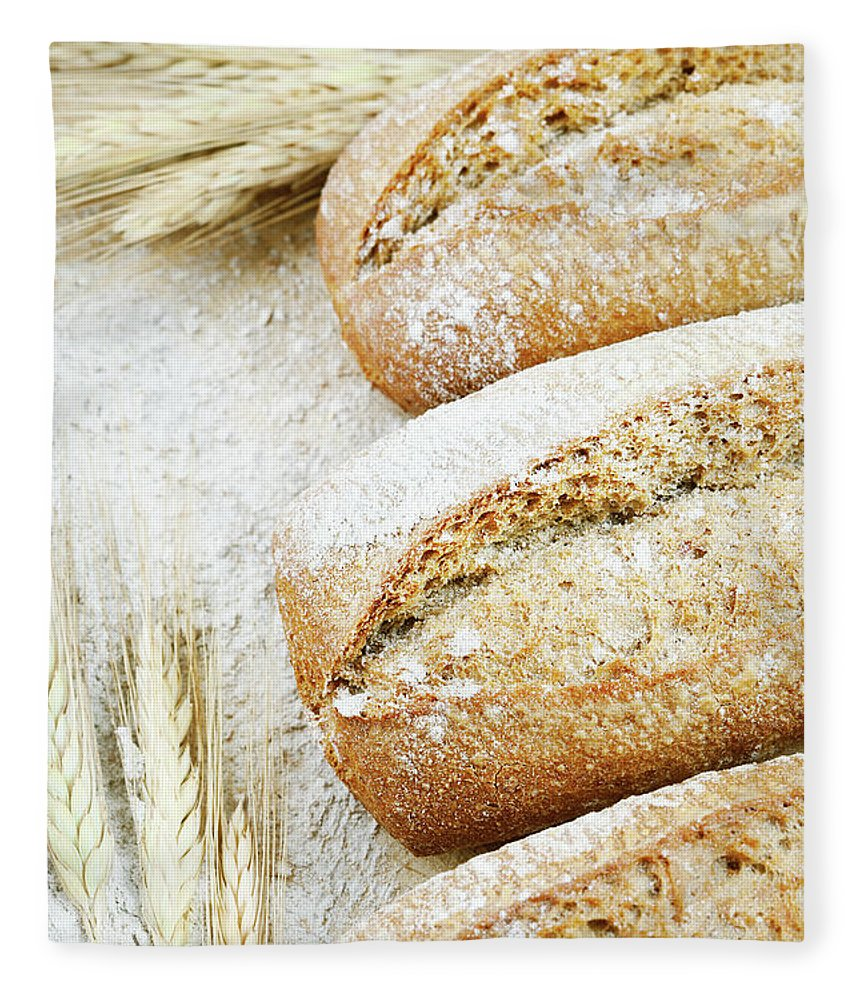 Breakfast Fleece Blanket featuring the photograph Bread by Cactusoup