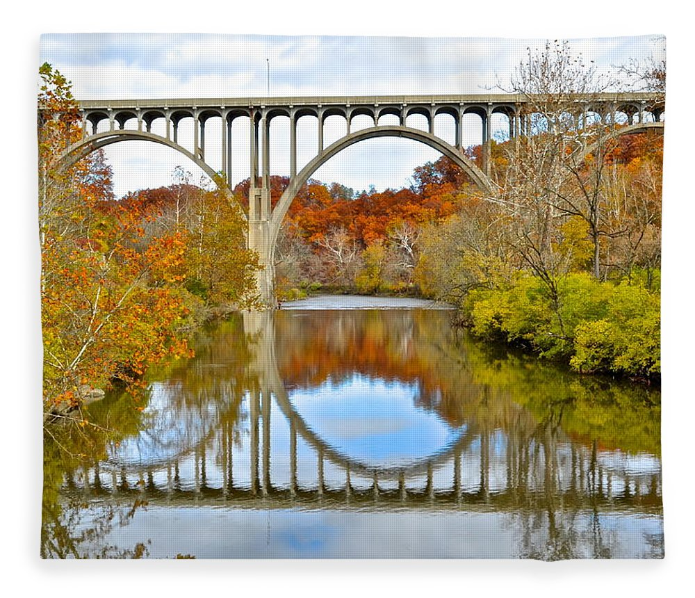 Bridge Fleece Blanket featuring the photograph Bridge Over The River Kwai by Frozen in Time Fine Art Photography