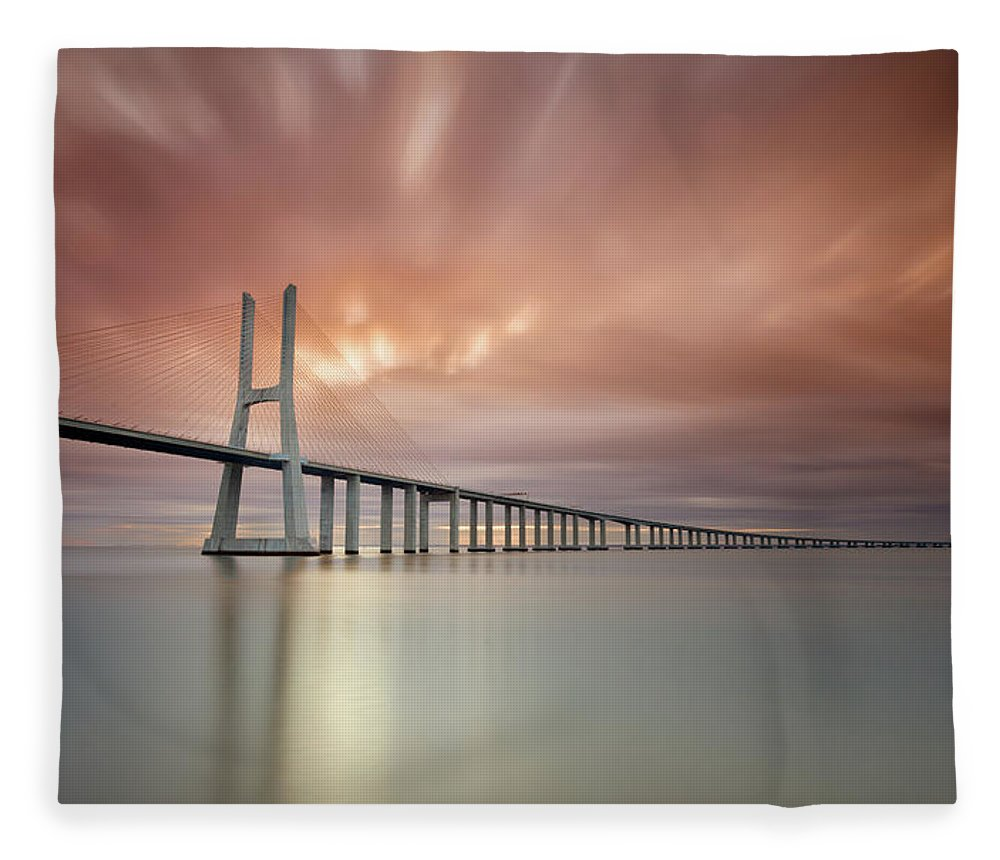 Tranquility Fleece Blanket featuring the photograph Burn, Fire Burn by Landscape Photography
