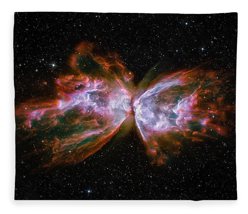 3scape Fleece Blanket featuring the photograph Butterfly Nebula Ngc6302 by Adam Romanowicz