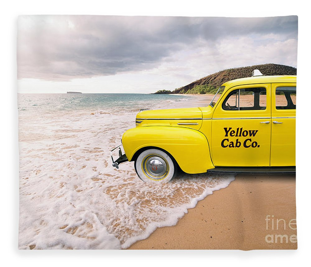 Hawaii Fleece Blanket featuring the photograph Cab Fare To Maui by Edward Fielding