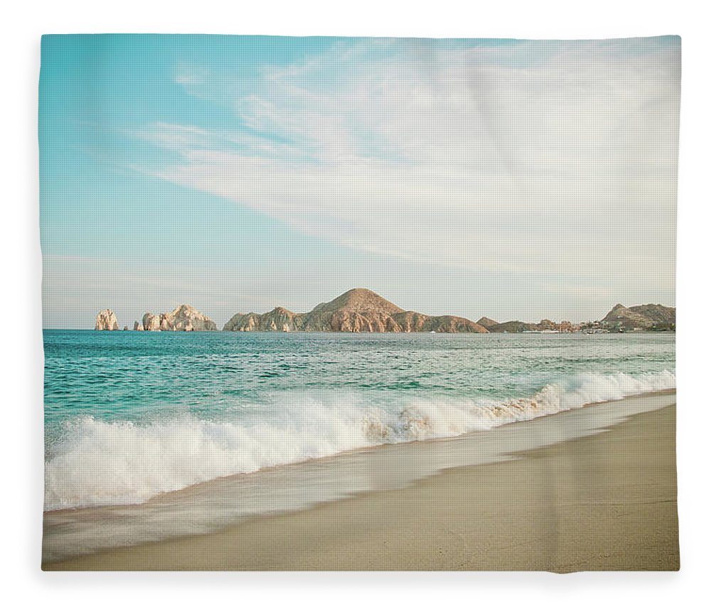 Water's Edge Fleece Blanket featuring the photograph Cabos San Lucas by Christopher Kimmel