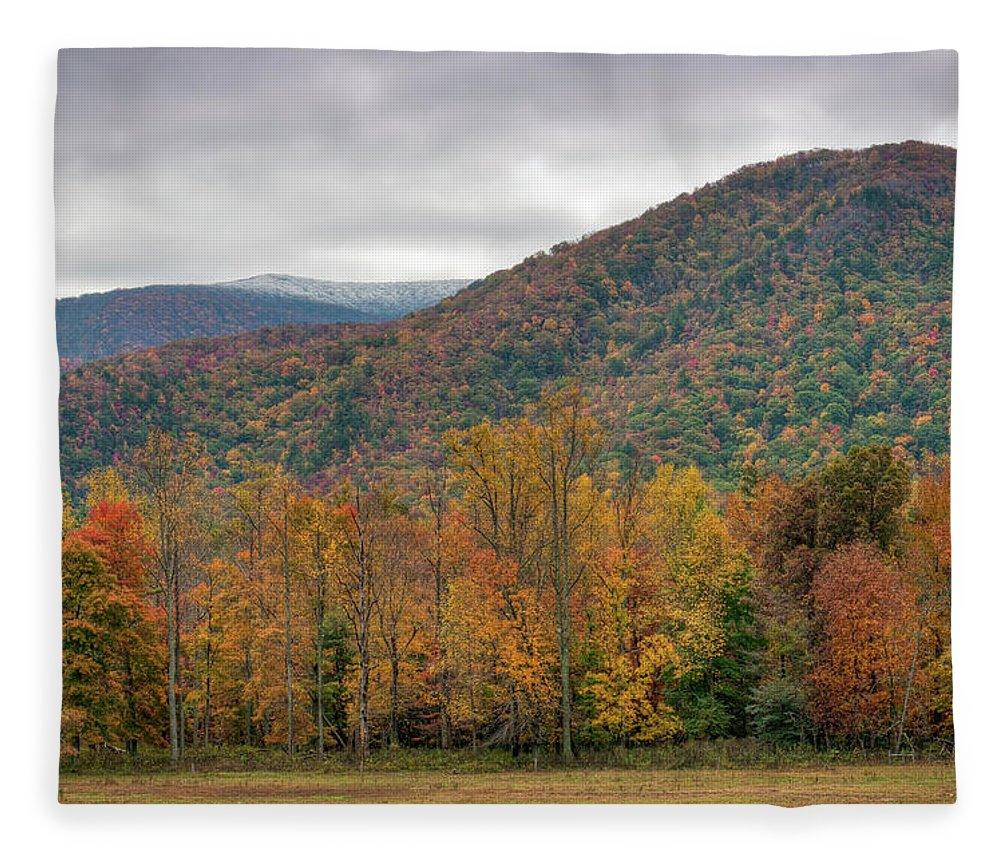 Scenics Fleece Blanket featuring the photograph Cades Cove, Great Smoky Mountains by Fotomonkee