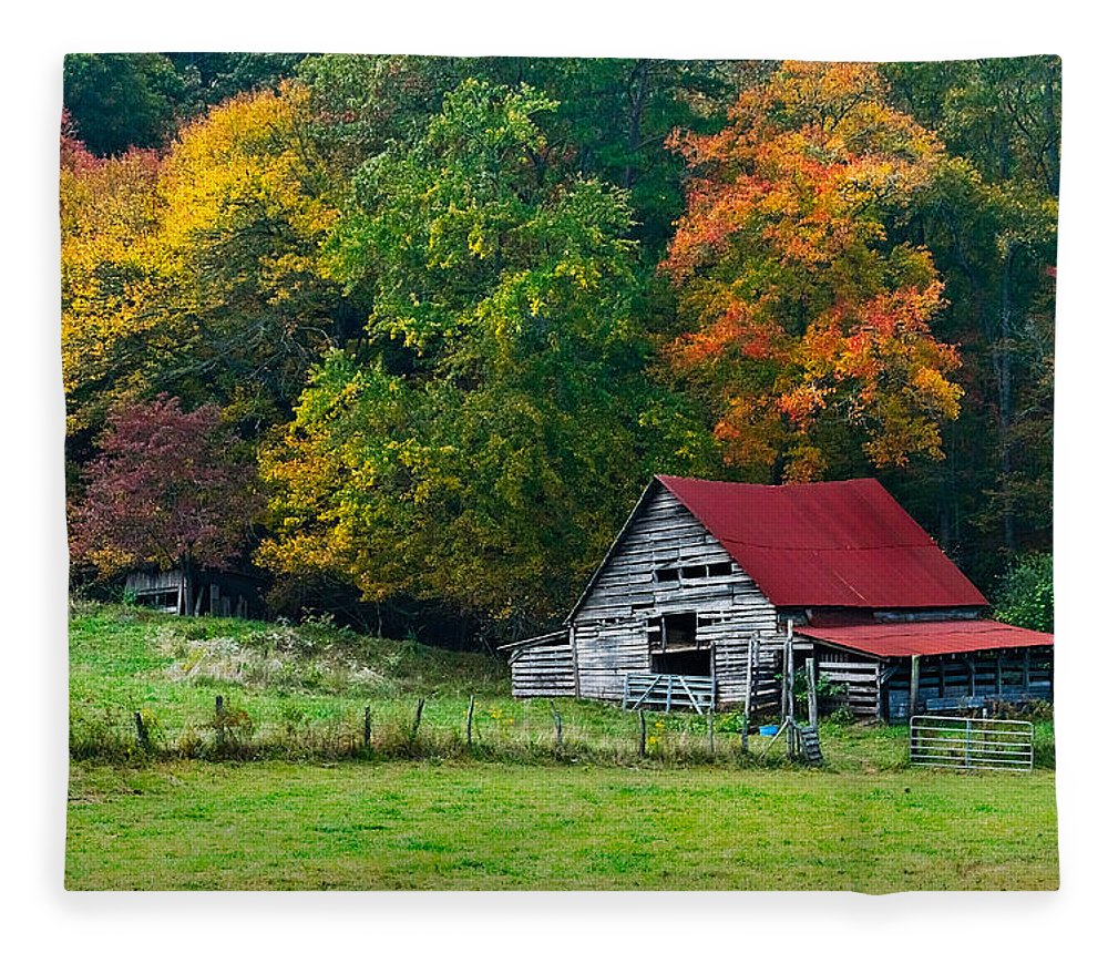 Appalachia Fleece Blanket featuring the photograph Candy Mountain by Debra and Dave Vanderlaan