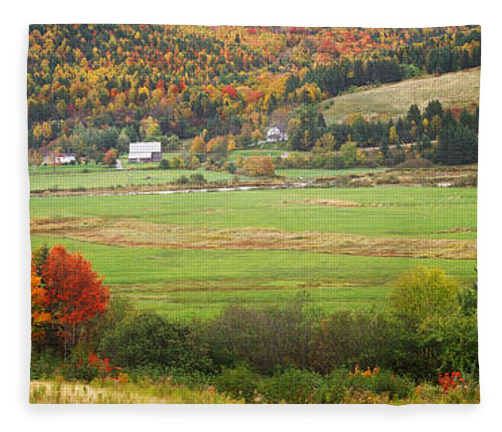 Photography Fleece Blanket featuring the photograph Cape Breton Highlands Near North East by Panoramic Images