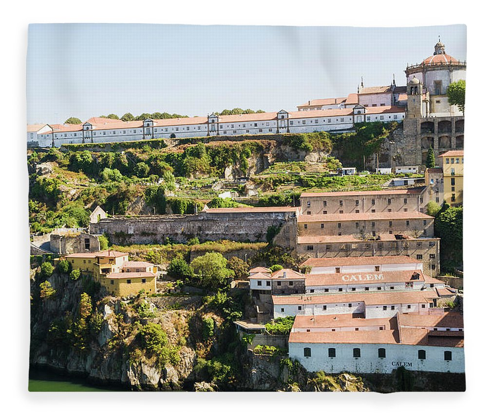 Clear Sky Fleece Blanket featuring the photograph Casa Calem, Port Wine Houses, Porto by John Harper