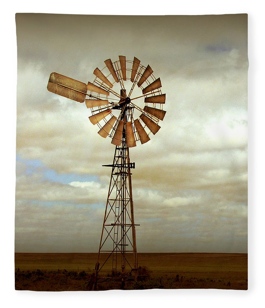 Windmill Fleece Blanket featuring the photograph Catch the Wind by Holly Kempe