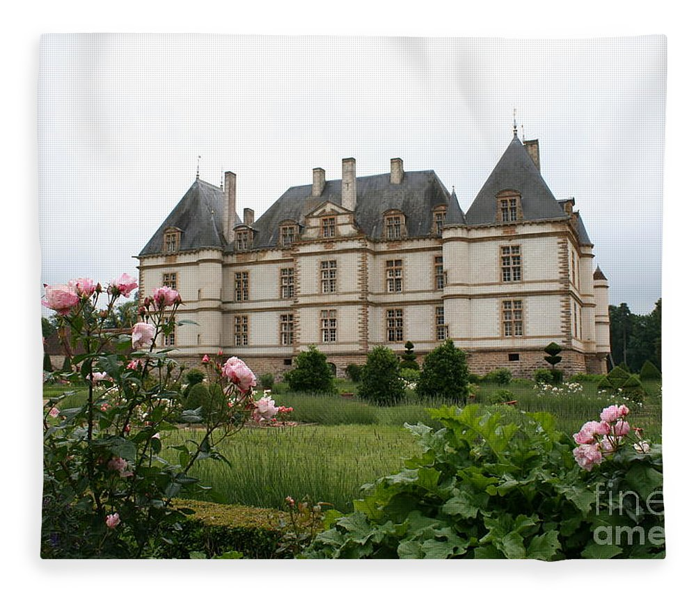 Palace Fleece Blanket featuring the photograph Chateau De Cormatin Garden by Christiane Schulze Art And Photography