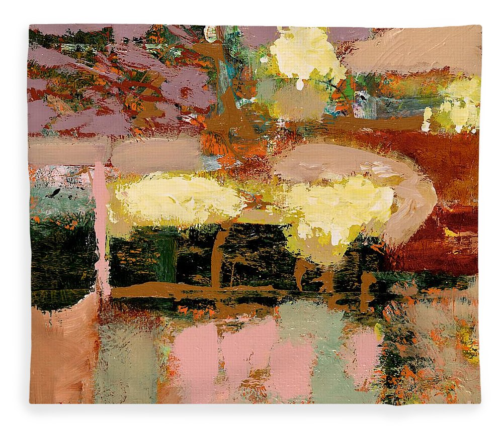 Landscape Fleece Blanket featuring the painting Chopped Liver by Allan P Friedlander