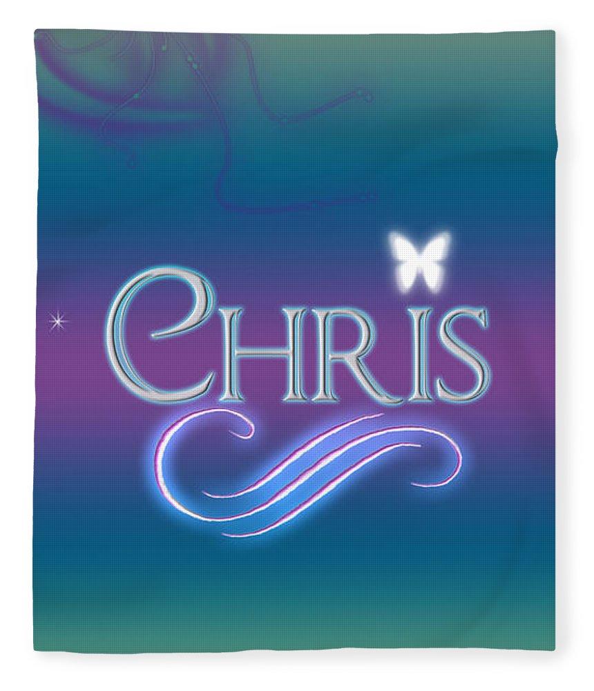 Chris Name Art Fleece Blanket for Sale by Becca Buecher