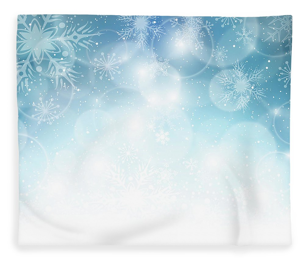 Holiday Fleece Blanket featuring the digital art Christmas Background by Adyna
