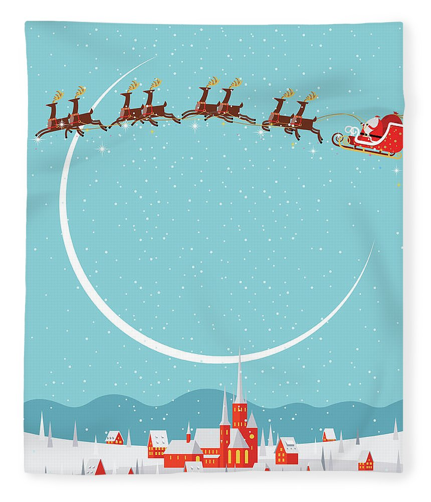 Holiday Fleece Blanket featuring the digital art Christmas Background by Akindo