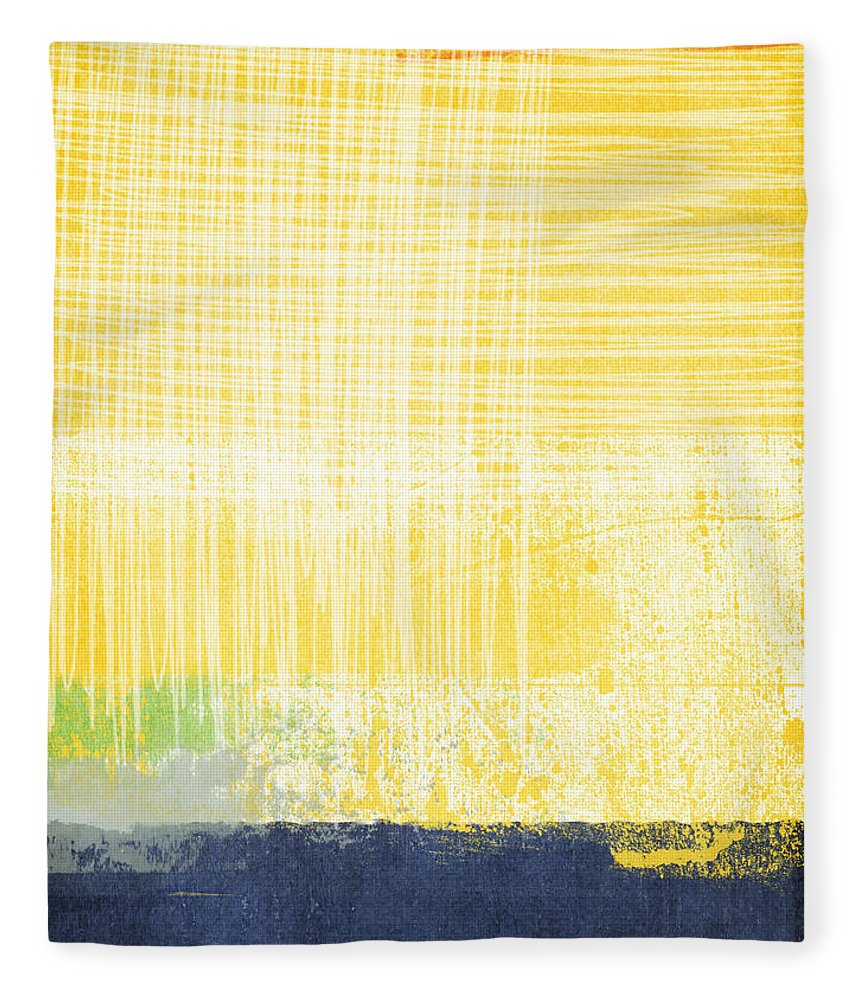 Abstract Painting Fleece Blanket featuring the painting Circadian by Linda Woods