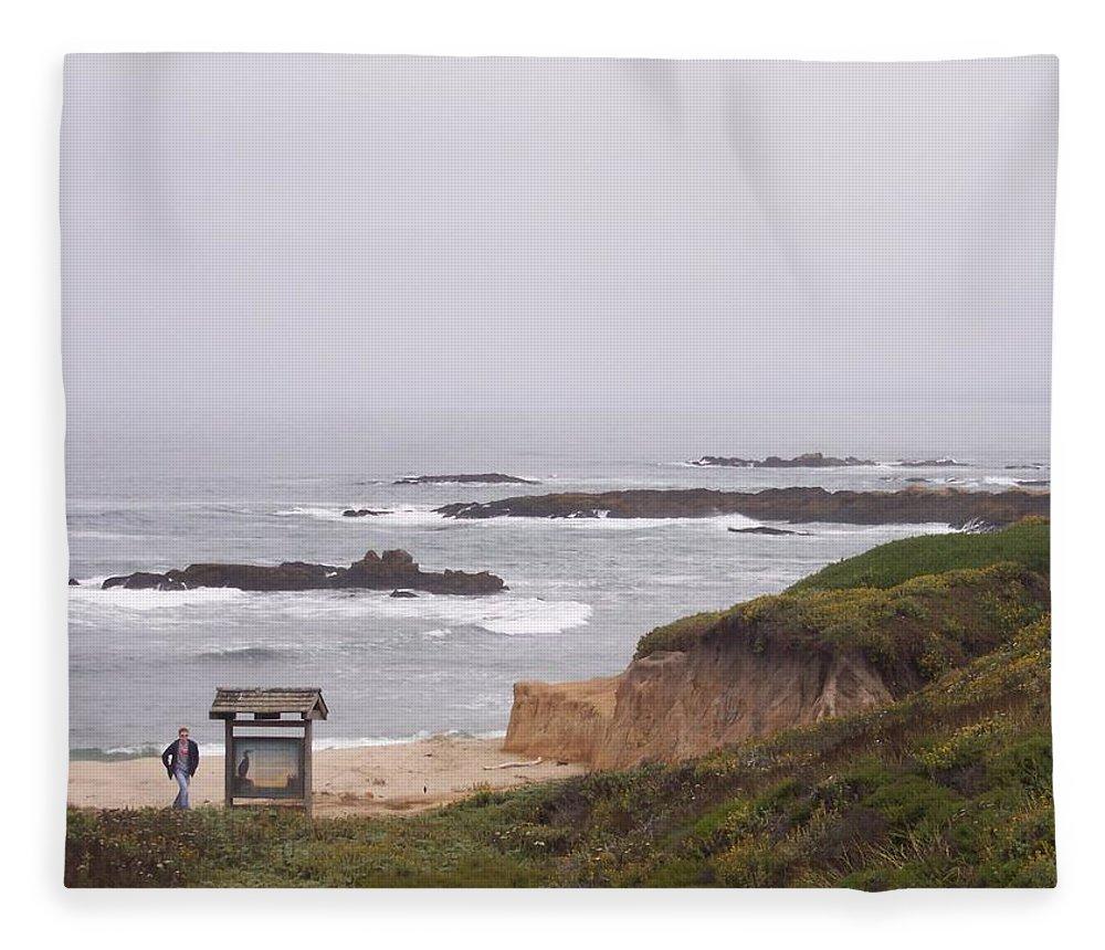 Coast Fleece Blanket featuring the photograph Coastal Scene 7 by Pharris Art