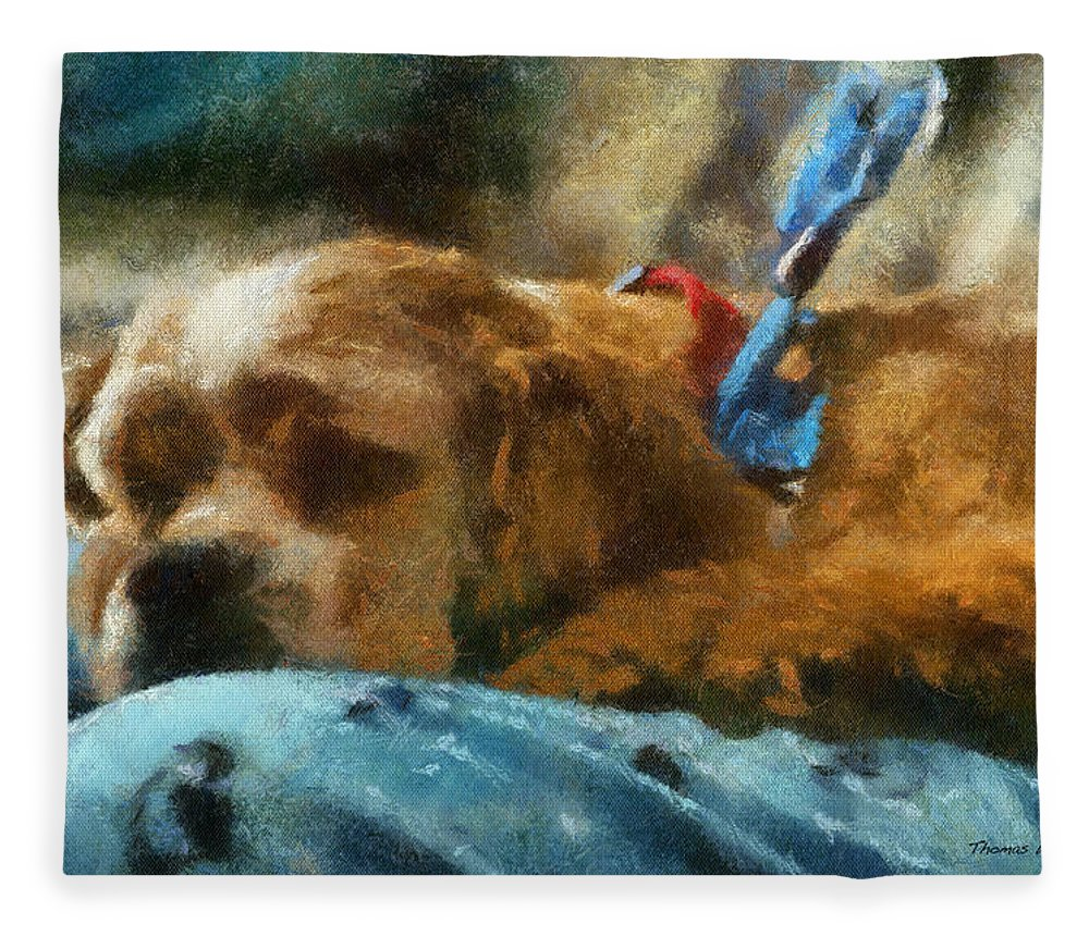 Spaniel Fleece Blanket featuring the photograph Cocker Spaniel Photo Art 07 by Thomas Woolworth