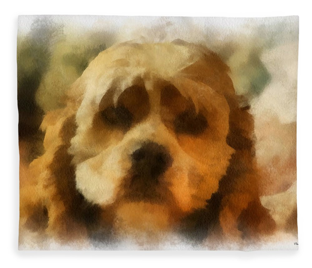 Spaniel Fleece Blanket featuring the photograph Cocker Spaniel Photo Art 03 by Thomas Woolworth