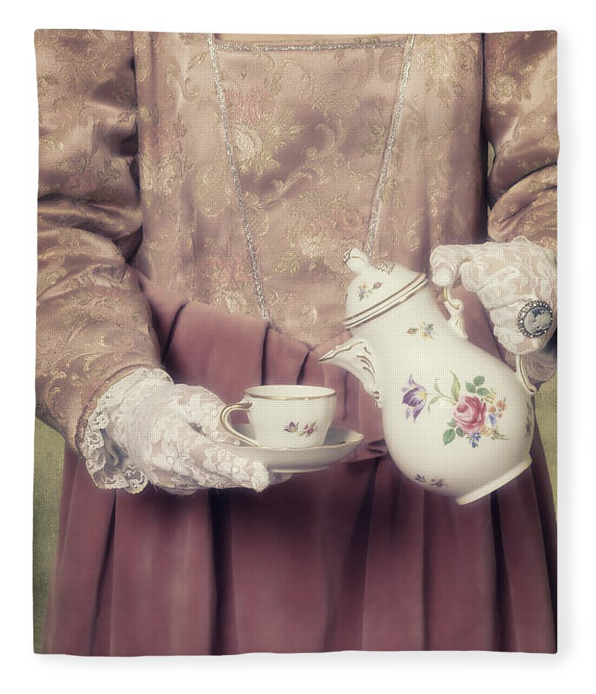 Woman Fleece Blanket featuring the photograph Coffee Time by Joana Kruse
