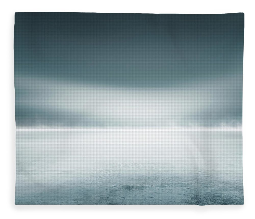 Tranquility Fleece Blanket featuring the digital art Cold Studio Background by Aaron Foster