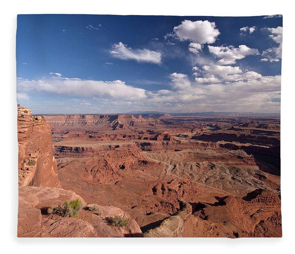Scenics Fleece Blanket featuring the photograph Colorado River Canyon From Dead Horse by John Elk