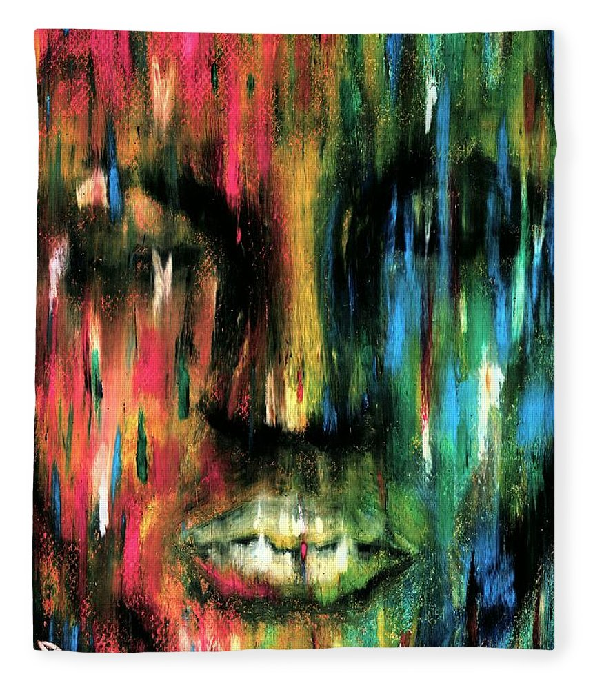 Colorful Fleece Blanket featuring the photograph Colorblind by Artist RiA
