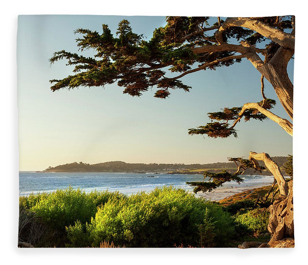 Scenics Fleece Blanket featuring the photograph Colorful Beachfront In Carmel-by-the-sea by Pgiam