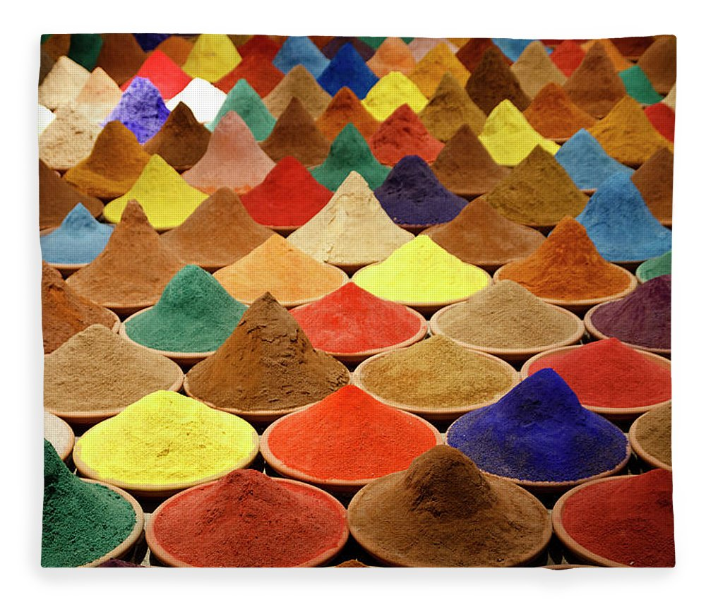 Heap Fleece Blanket featuring the photograph Colorful Spices by Gabriele Kahal - Www.flickr.com/photos/gabrielekahal