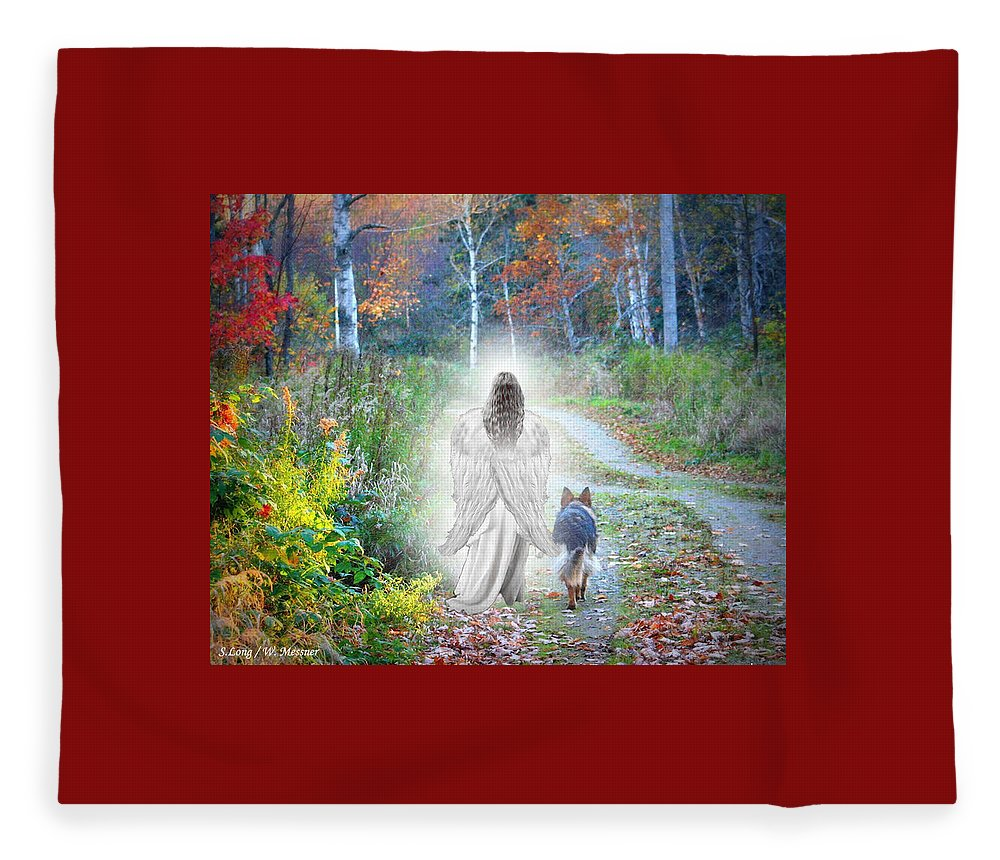 German Shepherd Fleece Blanket featuring the photograph Come Walk With Me by Sue Long
