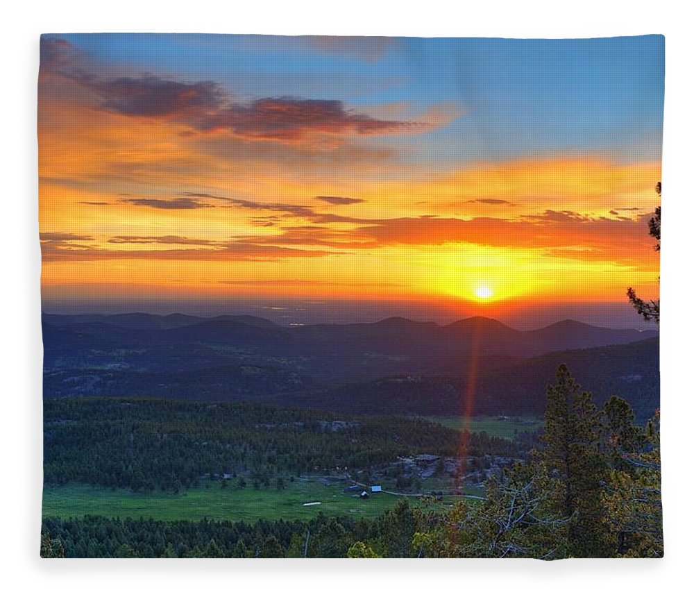 Conifer Fleece Blanket featuring the photograph Conifer Sunrise by David Ross