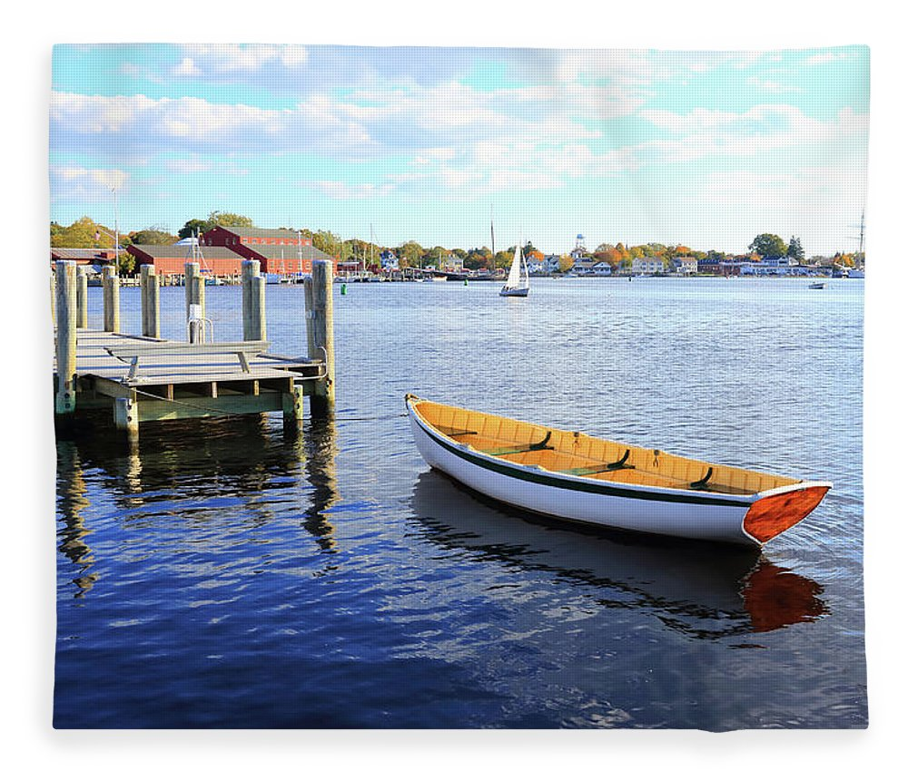 Steps Fleece Blanket featuring the photograph Connecticut Mystic Seaport by Shunyufan