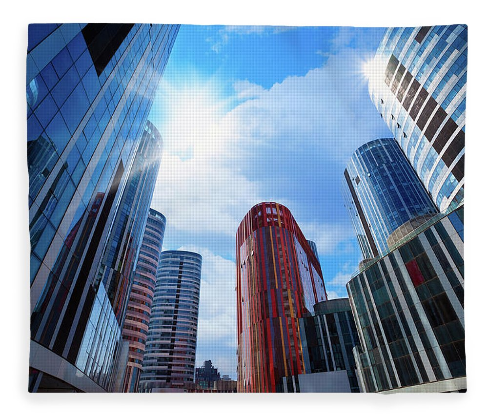 Chinese Culture Fleece Blanket featuring the photograph Contemporary Building by Ithinksky