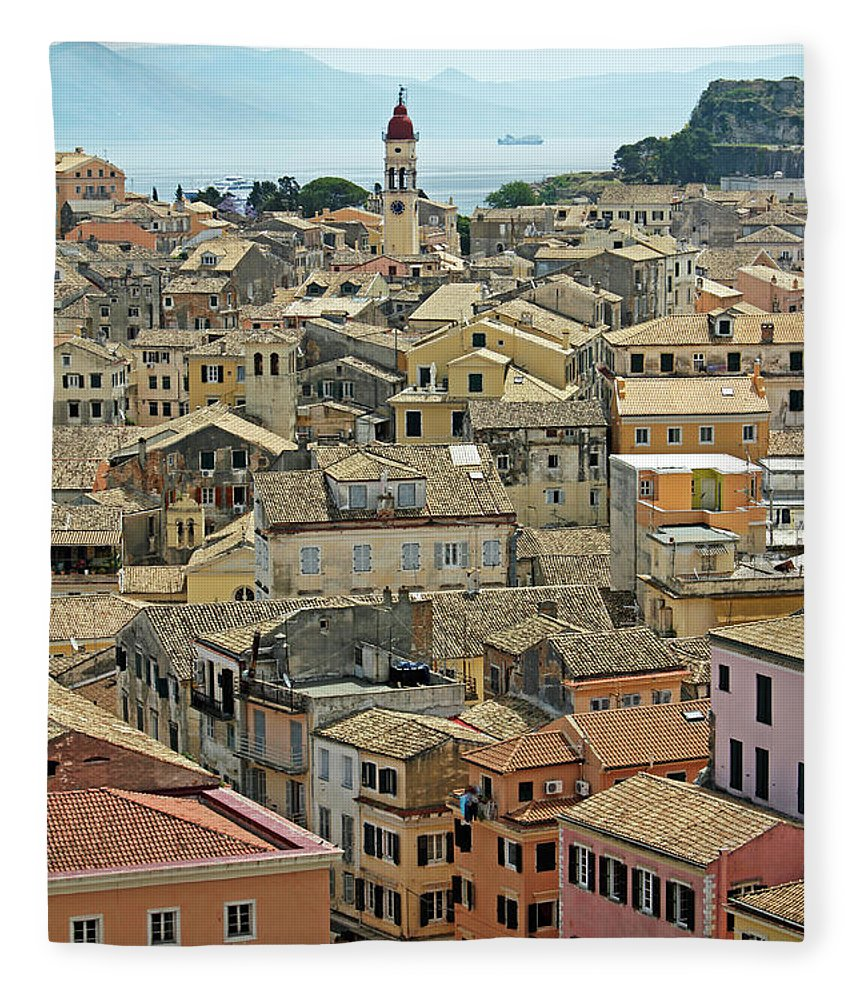 Greek Culture Fleece Blanket featuring the photograph Corfu, Greece by David Gould