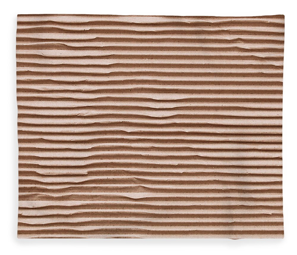 Abstract Fleece Blanket featuring the photograph Corrugated Cardboard by Tom Gowanlock