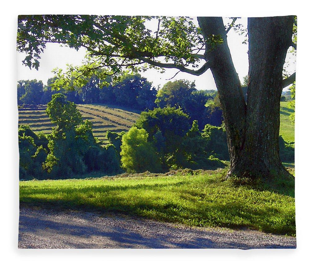 Landscape Fleece Blanket featuring the photograph Country Landscape by Steve Karol
