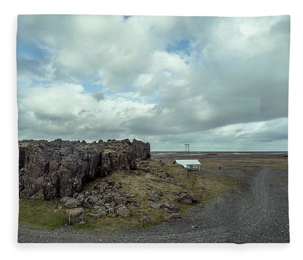Tranquility Fleece Blanket featuring the photograph Countryside by Oscar Wong