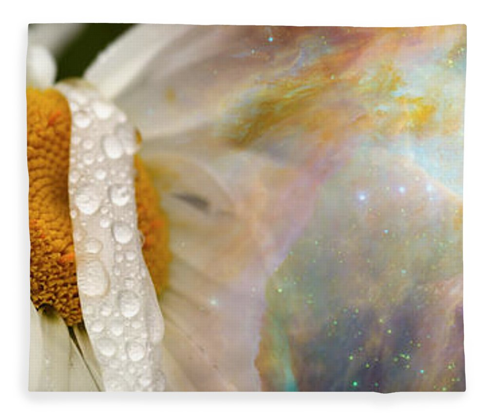 Photography Fleece Blanket featuring the photograph Daisy With Hubble Cosmos by Panoramic Images