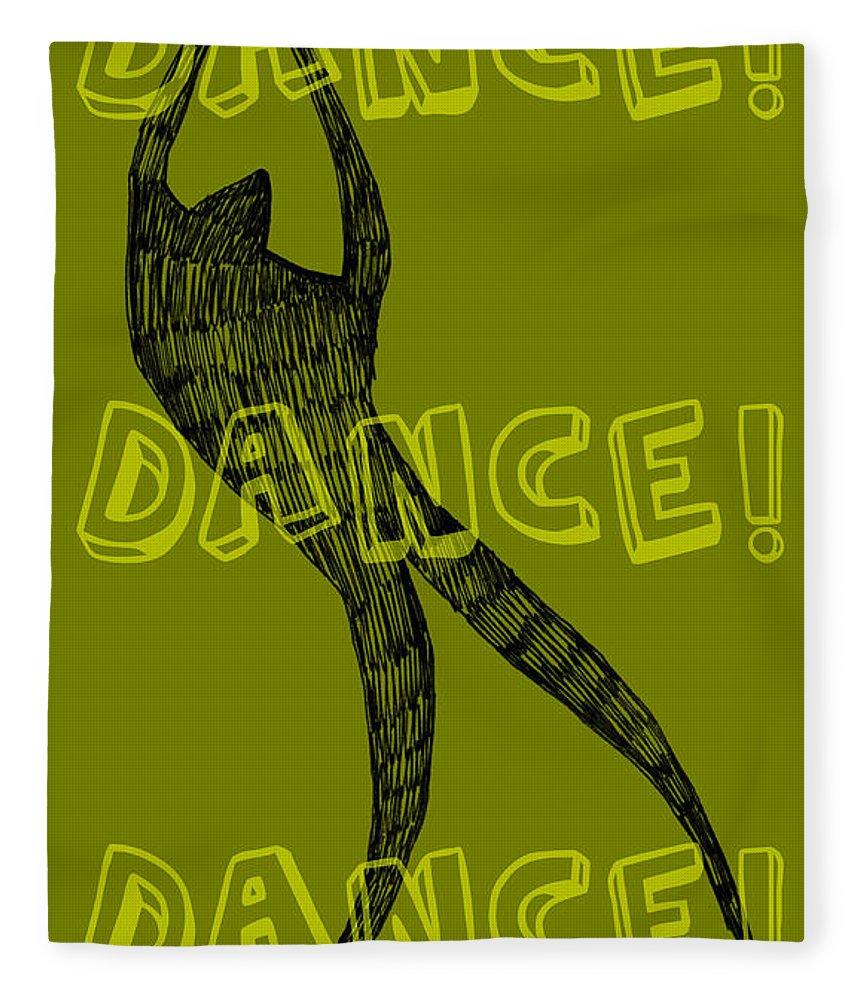 Text Fleece Blanket featuring the digital art Dance Dance Dance by Michelle Calkins