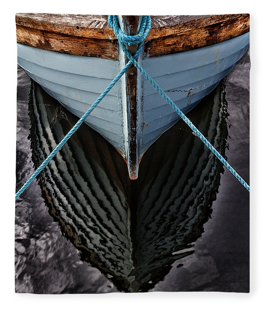 Bay Fleece Blanket featuring the photograph Dark waters by Stelios Kleanthous