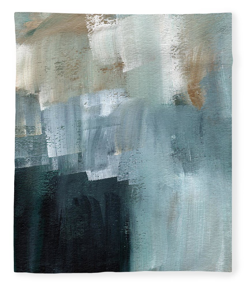 Abstract Art Fleece Blanket featuring the painting Days Like This - Abstract Painting by Linda Woods