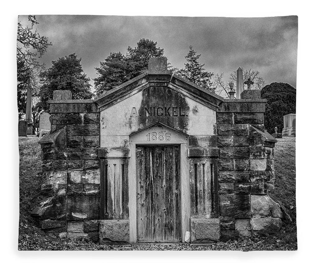 Crypt Fleece Blanket featuring the photograph Dead Man's Castle by Brett Engle