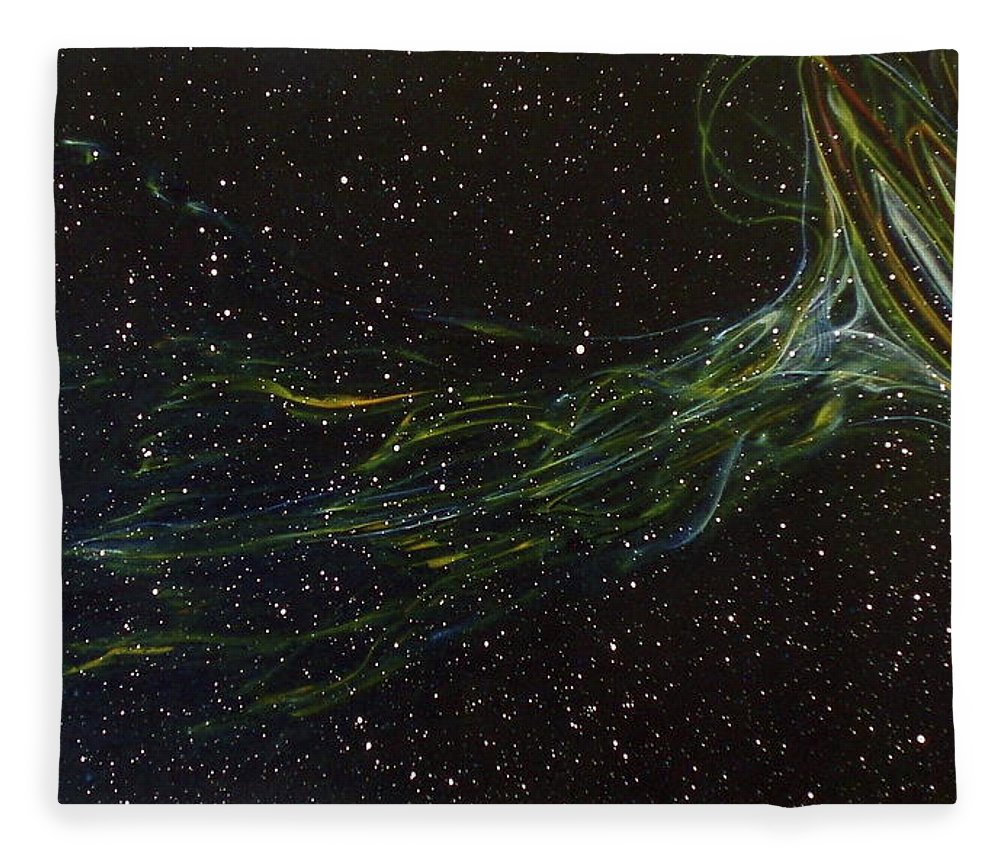Abstract Fleece Blanket featuring the painting Death Throes by Sean Connolly