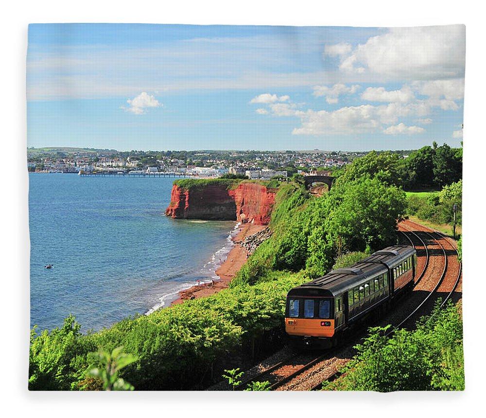 Passenger Train Fleece Blanket featuring the photograph Devon Train by Maxian