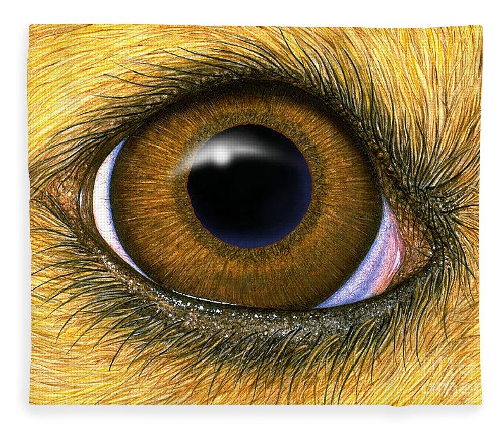 Dog Eye Fleece Blanket for Sale by Laurie OKeefe