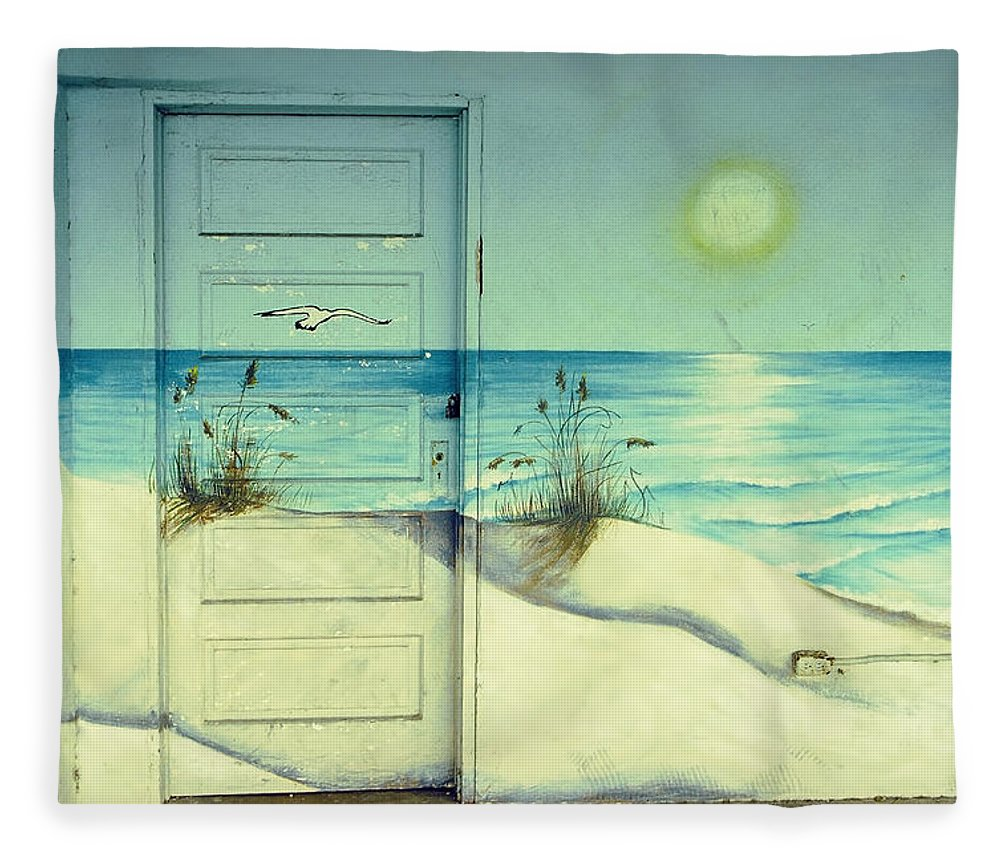Architecture Fleece Blanket featuring the photograph Door of Perception by Skip Hunt